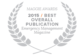 e.Republic's Emergency Management magazine won the ASBPE awards 2013 Magazine of the Year