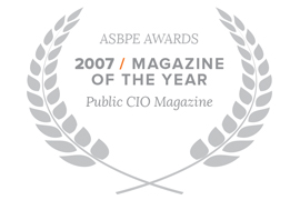 e.Republic's Public CIO magazine won the ASBPE awards 2007 Magazine of the Year