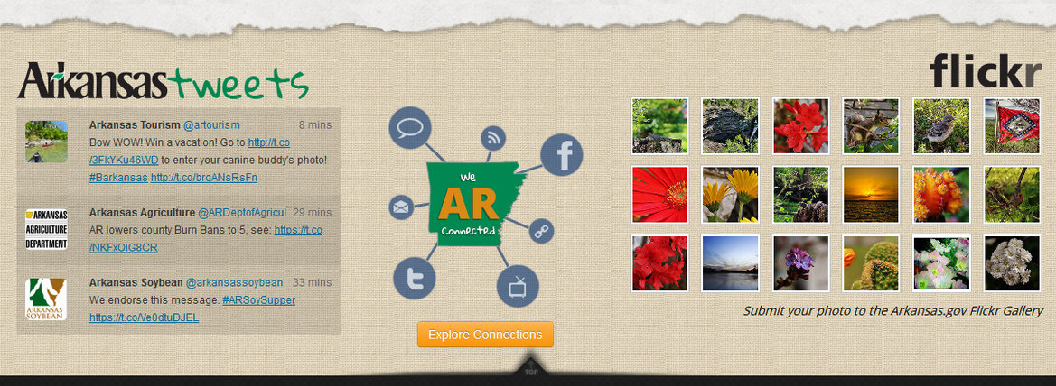 Arkansas.gov+highlights+social+media