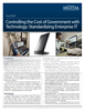 Lower Government Costs by Standardizing Enterprise IT
