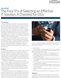 The Four 'P's of Selecting an Effective IT Solution: A Checklist for CIOs