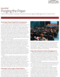 Purging the Paper: How ECM Improves Transparency and Enhances Agenda Management in Government