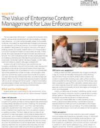 The Value of Enterprise Content Management for Law Enforcement