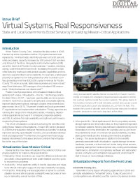 Virtual Systems, Real Responsiveness: State and Local Governments Boost Service by Virtualizing Mission-Critical Applications