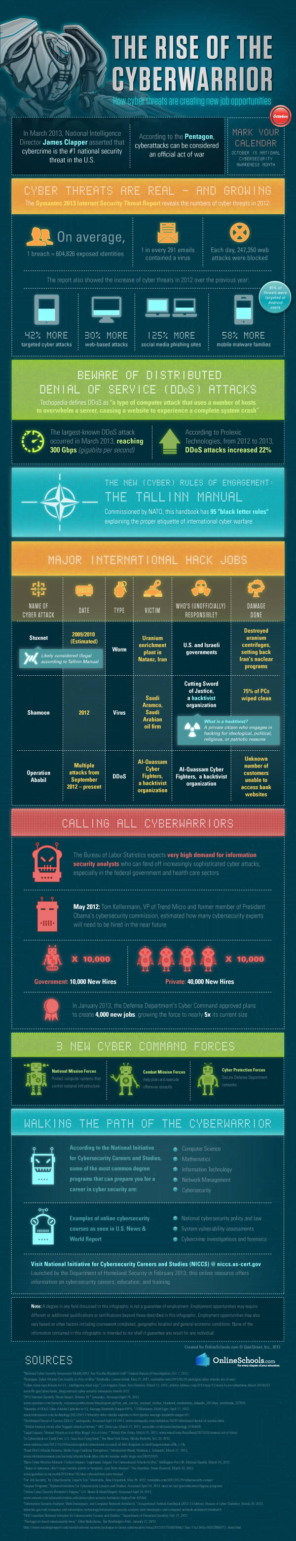 Cyber Warriors infographic