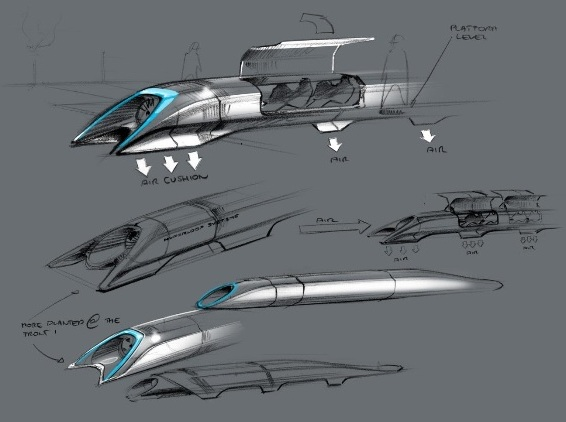 Hyperloop Alpha drawing