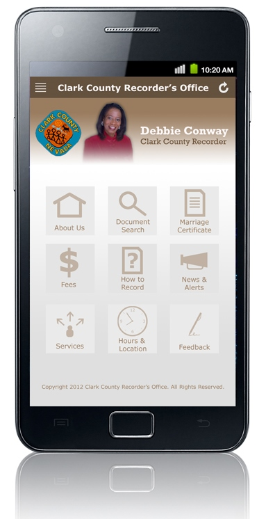 Clark County Recorder Mobile Website