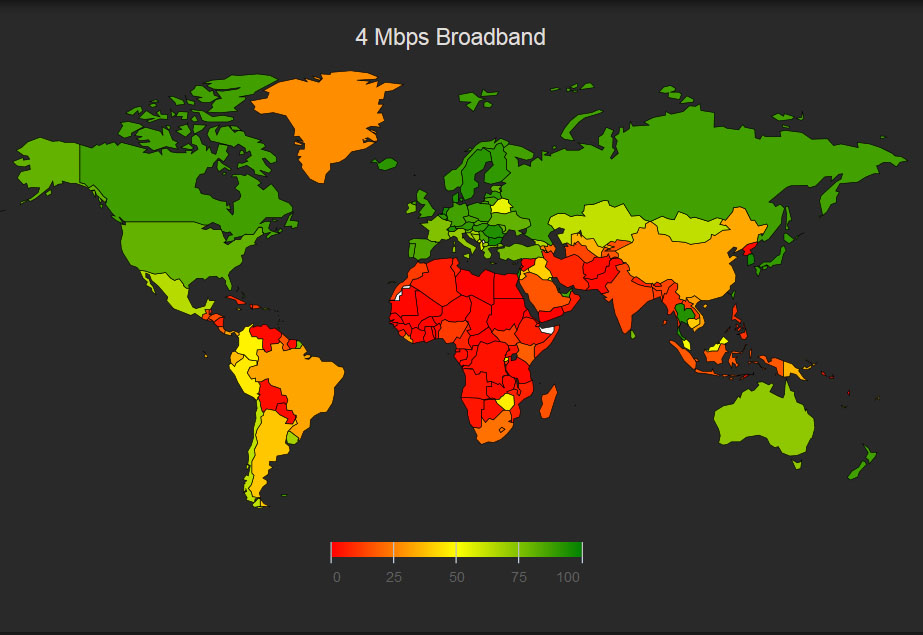 Washington DC Enjoys Fastest Average Internet Speeds In Nation - Us internet speed map