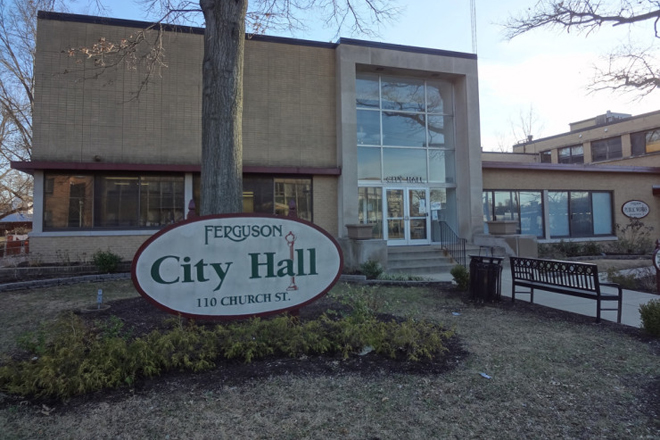 The Ferguson, Mo., City Hall, which houses the municipal court.