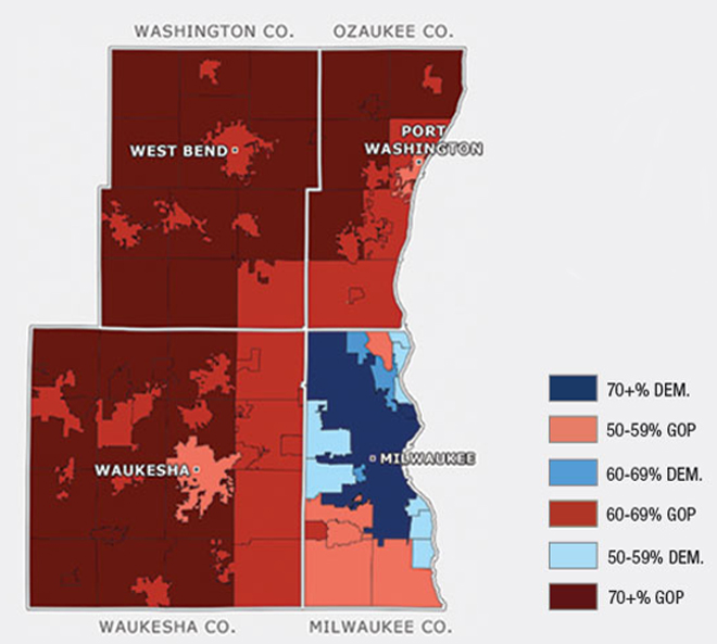 Milwaukee The Most Segregated And Polarized Place In America - Segregated us map