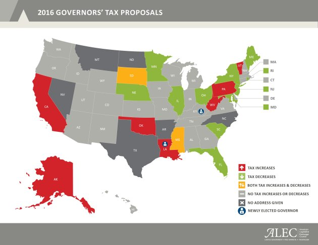 Chart: governors' tax proposals